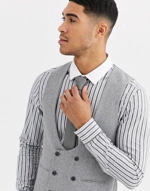 Приталенный твидовый жилет с добавлением шерсти Winter Wedding-Серый Gianni Feraud