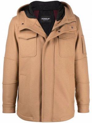 Куртка на молнии с капюшоном DONDUP. Цвет: нейтральные цвета