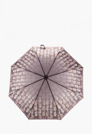 Зонт складной Goroshek. Цвет: коричневый