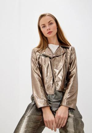 Куртка кожаная Max&Co DEPLIANT. Цвет: золотой