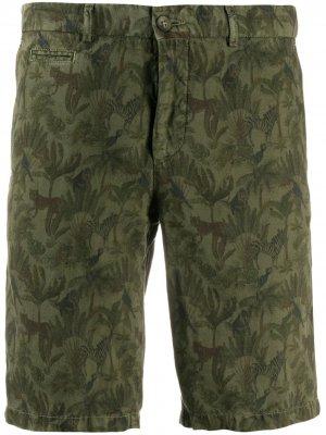 Шорты строгого кроя с вышивкой Altea. Цвет: зеленый