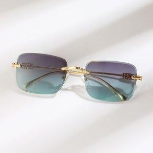 Солнцезащитные очки без оправы квадратный SHEIN