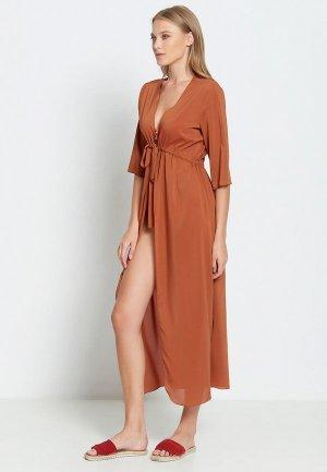 Платье пляжное Donatello Viorano Барбадос. Цвет: коричневый
