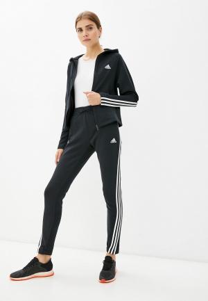 Костюм спортивный adidas W ENERGY TS. Цвет: черный