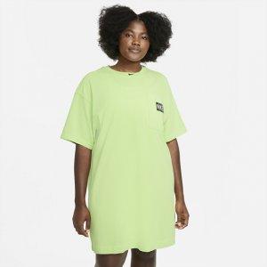 Платье Sportswear (большие размеры) - Зеленый Nike