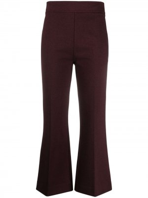 Укороченные брюки с завышенной талией Victoria Beckham. Цвет: красный