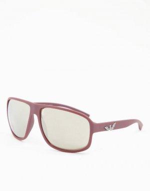 Солнцезащитные очки в спортивном стиле -Черный цвет Emporio Armani