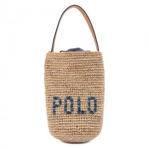 Сумка Polo Ralph Lauren. Цвет: бежевый