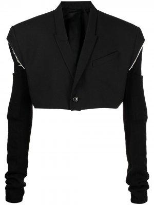 Укороченный пиджак без рукавов Rick Owens. Цвет: черный