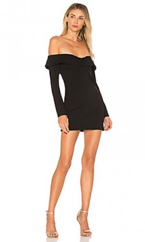 Мини-платье с открытыми плечами raquel ale by alessandra. Цвет: черный