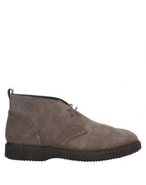 Полусапоги и высокие ботинки ALBERTO GUARDIANI. Цвет: хаки
