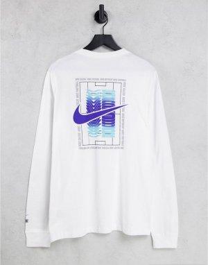 Белый лонгслив с принтом Nike FC Seasonal Football