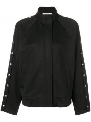 Куртка с заклепками T By Alexander Wang. Цвет: черный