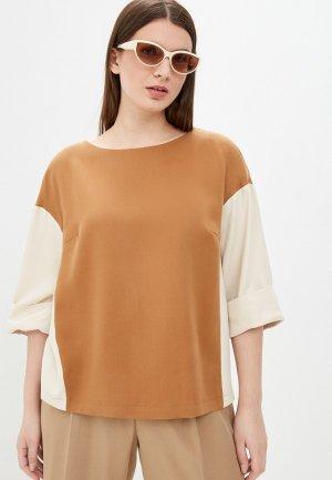 Блуза Electrastyle. Цвет: коричневый