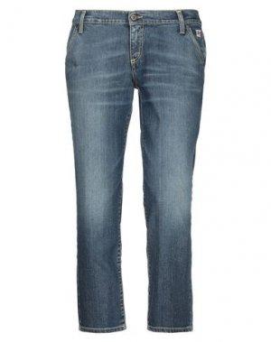 Джинсовые брюки-капри ROŸ ROGER'S. Цвет: синий
