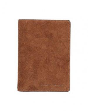 Чехол для документов BRUNELLO CUCINELLI. Цвет: коричневый