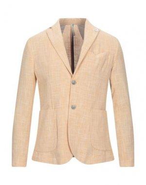 Пиджак SSEINSE. Цвет: желтый