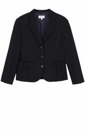 Однобортный пиджак с бантами Aletta. Цвет: темно-синий