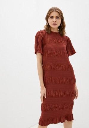 Платье 2nd Day. Цвет: коричневый