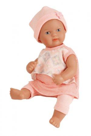 Кукла виниловая Лиззи 28 см SCHILDKROET. Цвет: бежевый, розовый, белый, серый