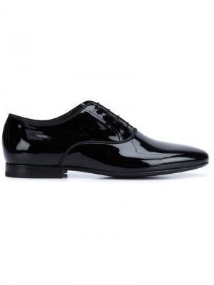 Классические туфли-оксфорды Lanvin. Цвет: черный