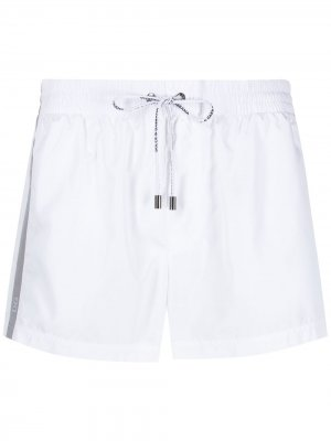 Плавки-шорты с логотипом Dolce & Gabbana. Цвет: белый