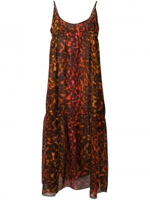 Платье-макси с леопардовым принтом Stella McCartney