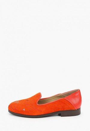 Лоферы Allora. Цвет: оранжевый
