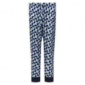 Шелковые домашние брюки Dolce & Gabbana. Цвет: синий