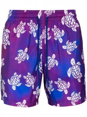 Плавки-шорты Mahina с принтом Vilebrequin. Цвет: фиолетовый