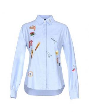 Pубашка BERNHARD WILLHELM. Цвет: небесно-голубой