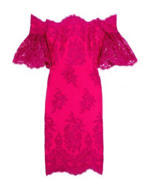 Короткое платье BADGLEY MISCHKA. Цвет: фуксия