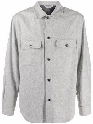 Рубашка Oscar Filippa K. Цвет: серый