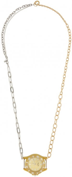 Silver & Gold Fake Watch Material Mix Necklace Bless. Цвет: fakewatch
