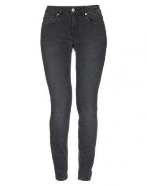 Джинсовые брюки MAISON CLOCHARD. Цвет: стальной серый