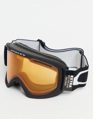 Черные горнолыжные очки с крупной оправой и оранжевыми/серыми линзами Frame 2.0 pro-Черный цвет Oakley