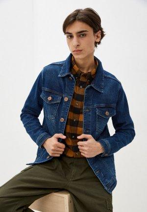 Куртка джинсовая Whitney. Цвет: синий