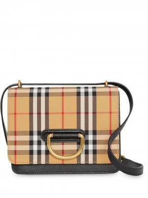 Small vintage check D-ring bag Burberry. Цвет: желтый