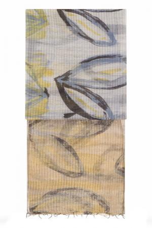 Палантин Michel Katana. Цвет: бежевый, серый, золотой