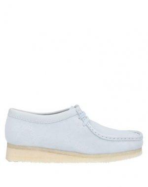 Обувь на шнурках CLARKS ORIGINALS. Цвет: небесно-голубой