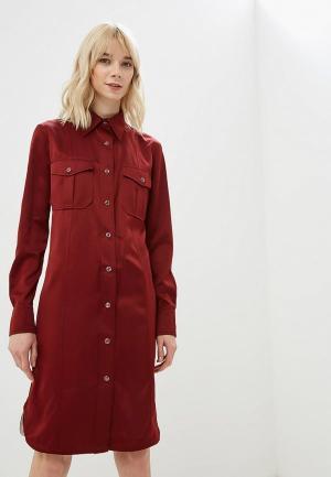 Платье Calvin Klein. Цвет: бордовый