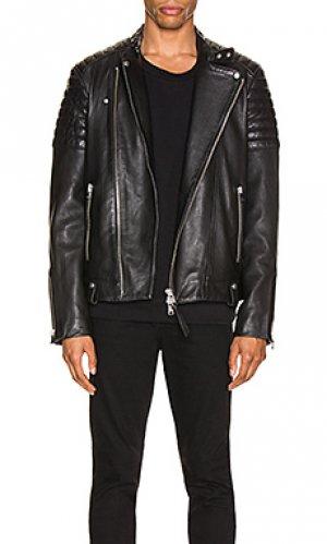 Кожаная куртка jasper ALLSAINTS. Цвет: черный