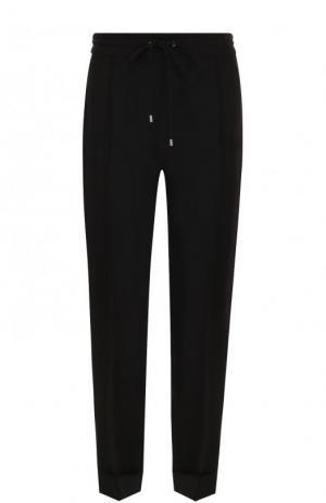 Однотонные брюки прямого кроя со стрелками Kenzo. Цвет: чёрный