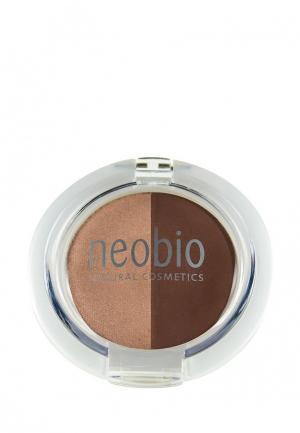 Тени для век Neobio 02 коричневое шампанское  , 2,5 г. Цвет: коричневый
