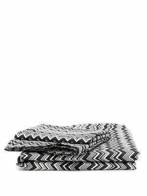 Комплект постельного белья с узором зигзаг Missoni Home. Цвет: черный