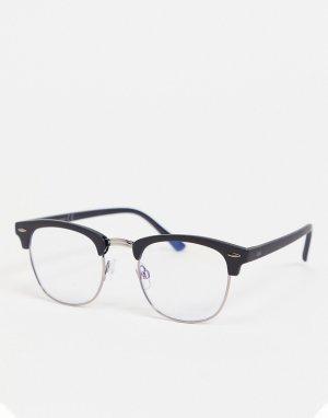 Очки с фильтром от синего света в черной оправе -Черный цвет Jack & Jones