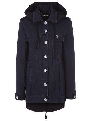 Куртка джинсовая удлинённая Philipp Plein. Цвет: разноцветный