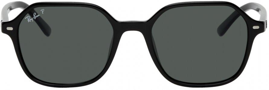 Black John Sunglasses Ray-Ban. Цвет: shiny black