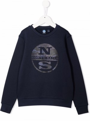 Джемпер с логотипом North Sails Kids. Цвет: синий