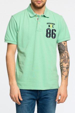 Рубашка-поло Broadway. Цвет: зеленый